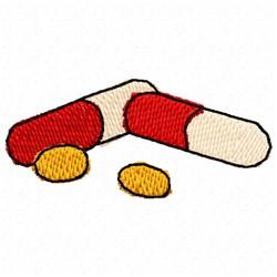 Pills Medicine embroidery design