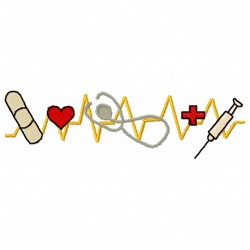 Medical Beat embroidery design