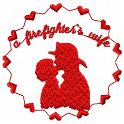 Firefighter Wife embroidery design