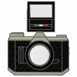 Flash Camera embroidery design
