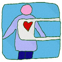 X-Ray Heart embroidery design