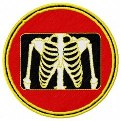 X-Ray Bones embroidery design