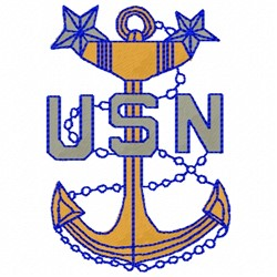 USN Anchor embroidery design