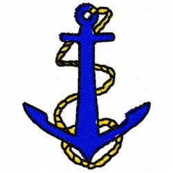 Plain Anchor embroidery design