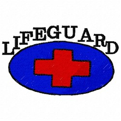 Lifeguard Nametag embroidery design