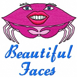 Beautiful Faces embroidery design