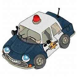 Police Car embroidery design
