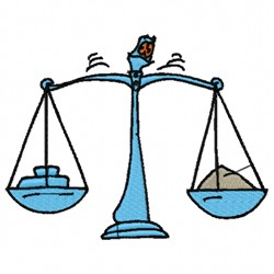 Balance Scale embroidery design