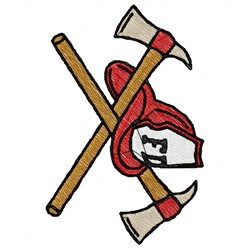 Fire Hat Axes embroidery design