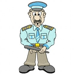 Cartoon Police embroidery design
