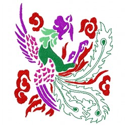 Chinese Bird embroidery design