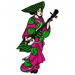 Japanese Musician embroidery design