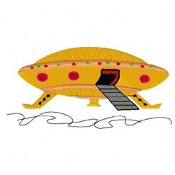 Alien UFO embroidery design