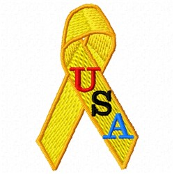 Yellow Ribbon USA embroidery design