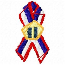 USA Memorial Ribbon embroidery design