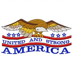 America United Strong embroidery design