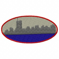 NY Towers embroidery design