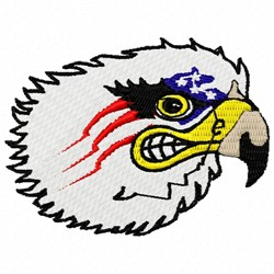 Patriotic Eagle embroidery design