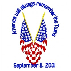 Twin Towers Memorial embroidery design