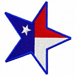 Flag Star embroidery design
