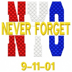 NYC Never Forget embroidery design