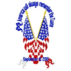 September 11 Flags embroidery design
