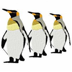 Wild Penguin embroidery design