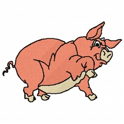 Hoss Pig embroidery design