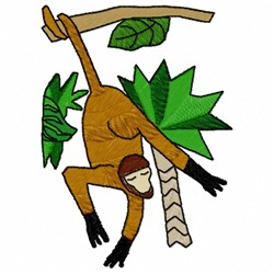 Hanging Monkey embroidery design