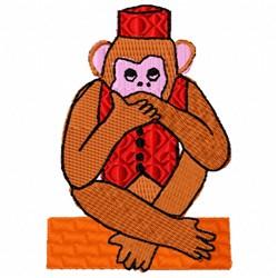 Monkey Speak embroidery design