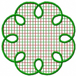Plaid Spiral embroidery design