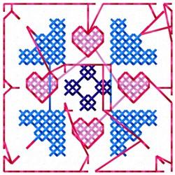Cross Stitch Block embroidery design