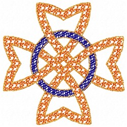 Star Knot embroidery design