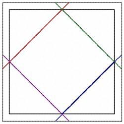 Square In Square embroidery design