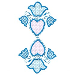 Flowers Hearts embroidery design