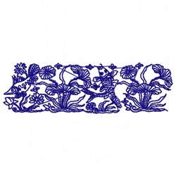 Fish & Flowers embroidery design