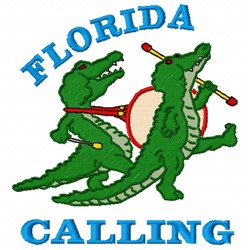 Florida Calling embroidery design
