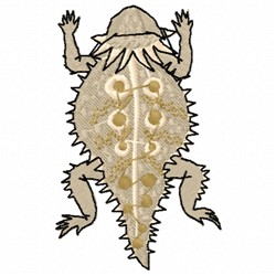 Horned Toad embroidery design