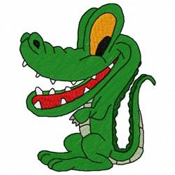 Crocodile embroidery design