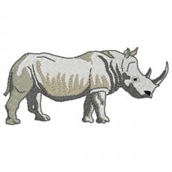 Rhino Wildlife embroidery design