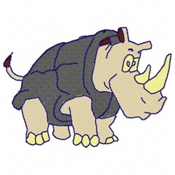 Rhino Cartoon embroidery design