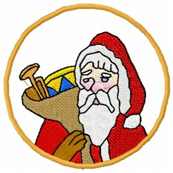 Old World Santa embroidery design