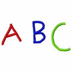 ABC Color embroidery design