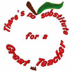 Apple Teacher embroidery design
