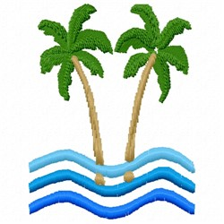 Palm Water embroidery design
