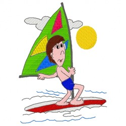 Windsurf Man embroidery design