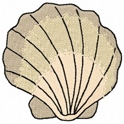 Seashell embroidery design