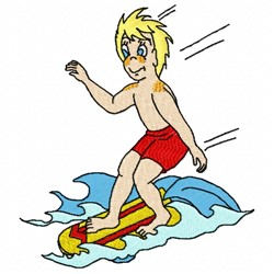 Boogie Boarder embroidery design