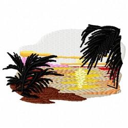 Ocean Sunset embroidery design
