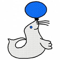 Seal Trick embroidery design